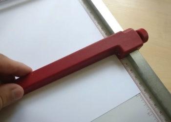 Ideal 1134 Papierschneider - Andruckschiene